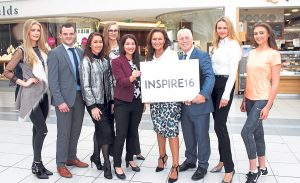 At the launch of Inspire in the Crescent Shopping Centre from October 20th to 22nd. Sarah Cregan, Alan Dempsey, Cecile Lee Coveney, Aine Dwan Grainne O'Rourke Crescent,  Celia Holman Lee, John Davitt Crescent, Asta Lee and Kyla McGowan. Picture michael Cowhey.